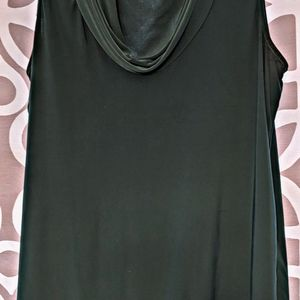 Limited cowl neck sleeveless teal